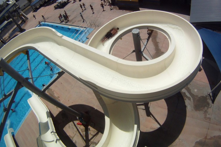 Image: Kansas water slide