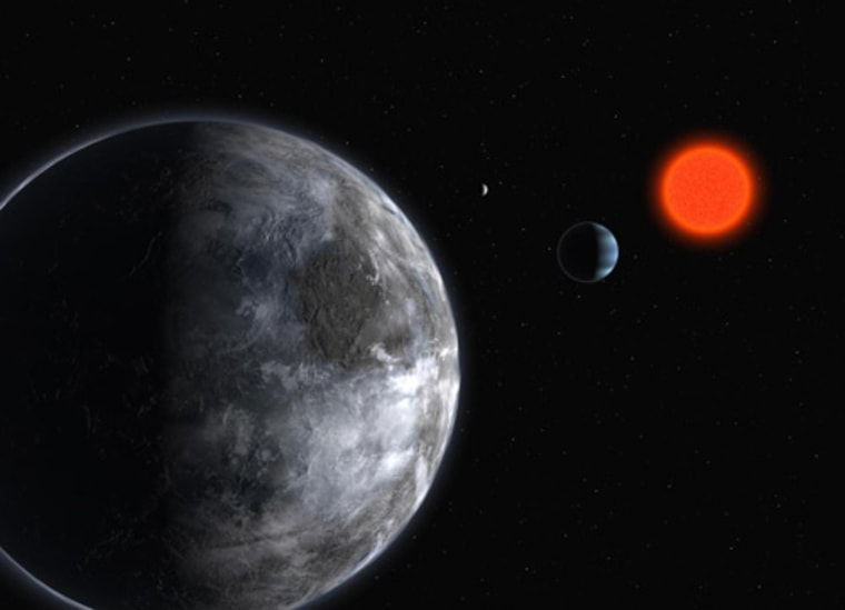 Astronomers have listened for signals from the planetary system around the red dwarf star Gliese 581, just 20.3 light-years away, but heard nothing but terrestrial interference.