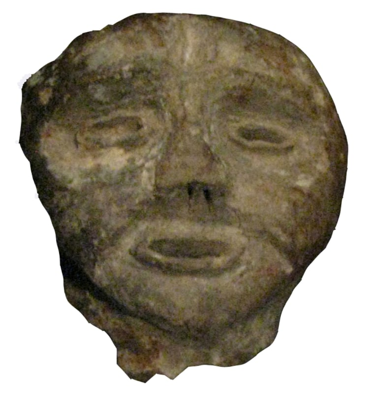 This human pipe effigy offers a tantalizing glimpse at the faces of the people of the Mantle site.
