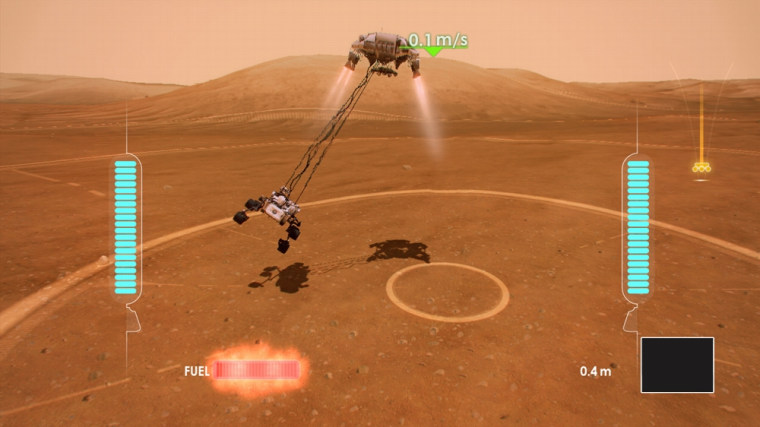 "Image: Screenshot from \""Mars Rover Landing\"""
