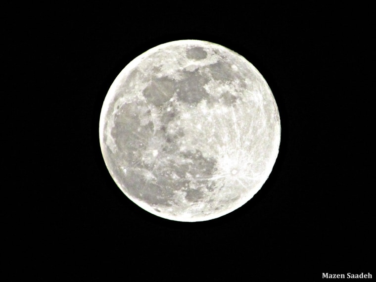 Mazen Saadeh took this image of the July 3 full moon from Bchemoun, Lebanon.