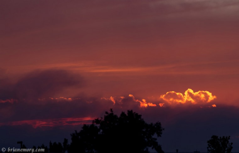 Airborne particles and droplets called aerosols can make for colorful sunsets. Above, a sunset during an aerosol-ejecting Colorado wildfire in June.