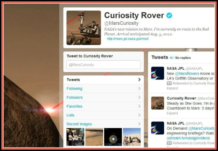 Would you like to have a word with the Mars rover Curiosity? No problem!