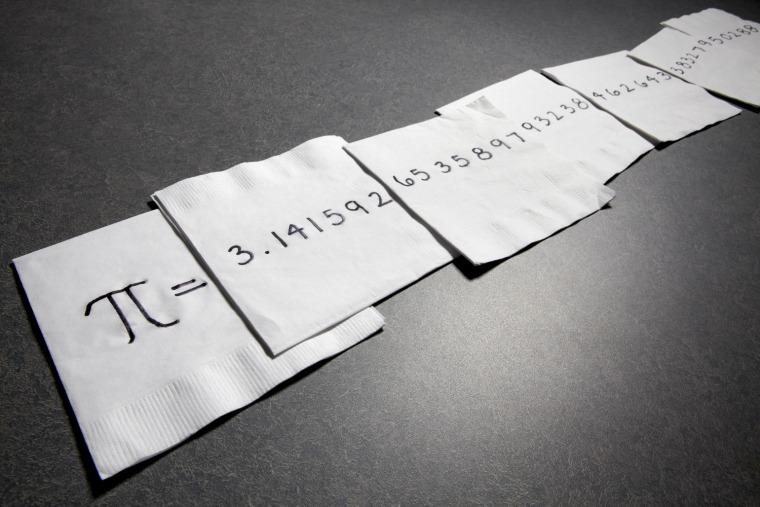Image: Pi on napkins