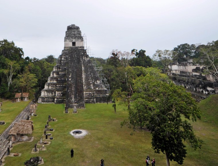 Mayan temples at the Tikal archaeological site in Guatemala in 2011