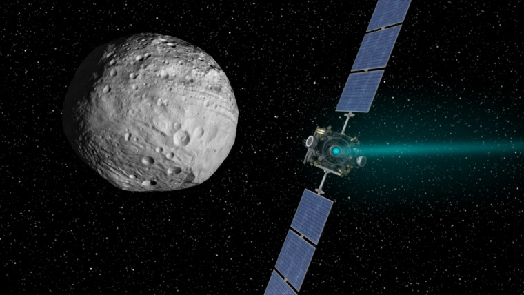 NASA's Dawn spacecraft arrived at the giant asteroid Vesta in July 2011 and is set to depart next Tuesday.