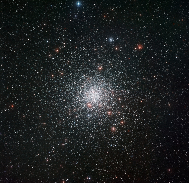 A new image from ESO's La Silla Observatory in Chile shows the spectacular globular star cluster Messier 4, which includes a star that appears strangely youthful.
