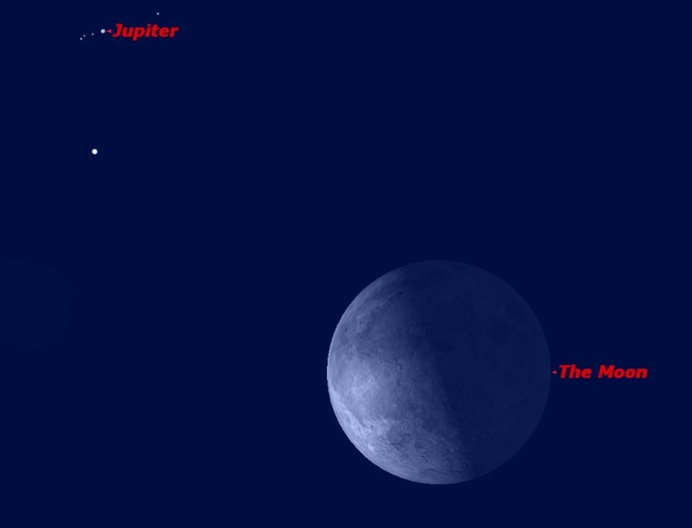 Jupiter and the moon in conjunction on the morning of Sept. 8.