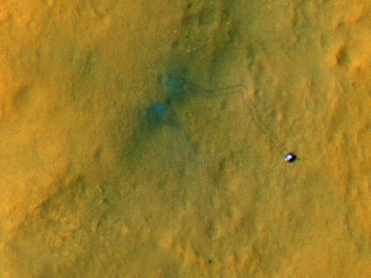 Image: Tracks from landing site