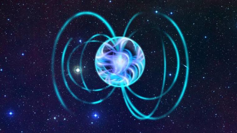 An artist's interpretation of a magnetar.