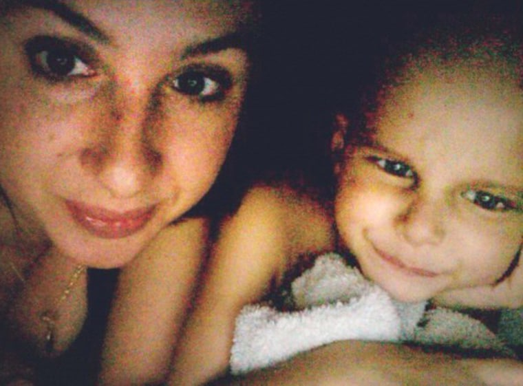 Image: Undated photo of Maya Thompson and her son Ronan