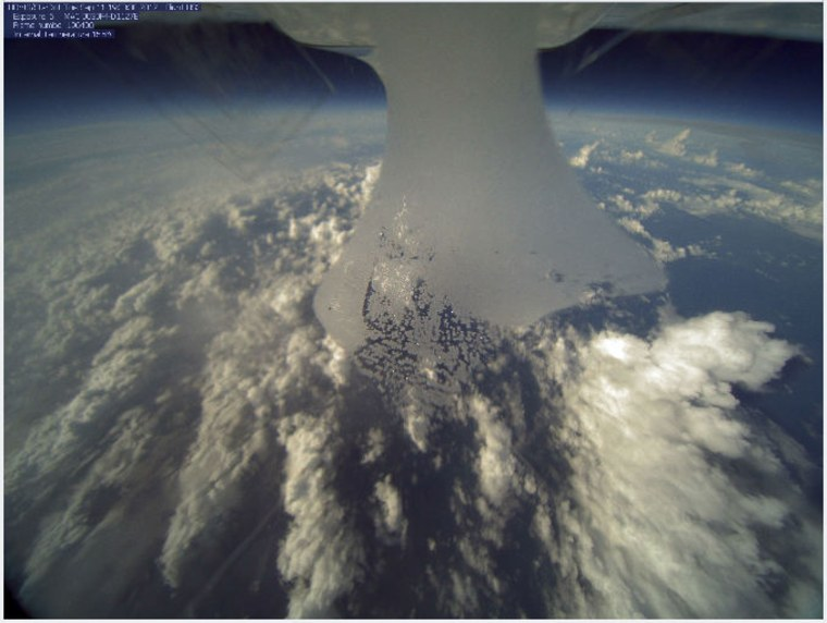 A skyscape of clouds snapped from the belly of NASA's hurricane-hunting drone, a Global Hawk aircraft, on Sept. 11.