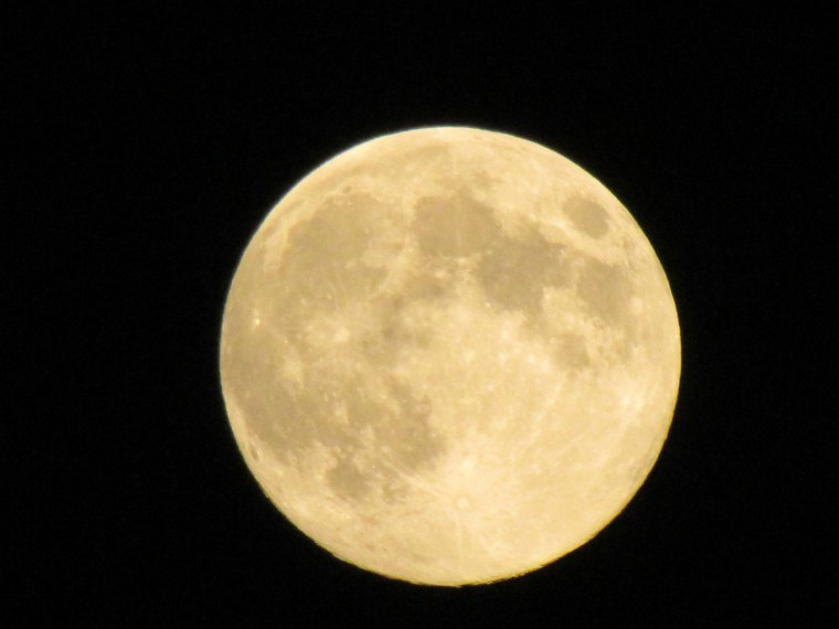 Carole Francis took this picture of the Harvest Moon over northeastern Pennsylvania on Sept. 11, 2011.