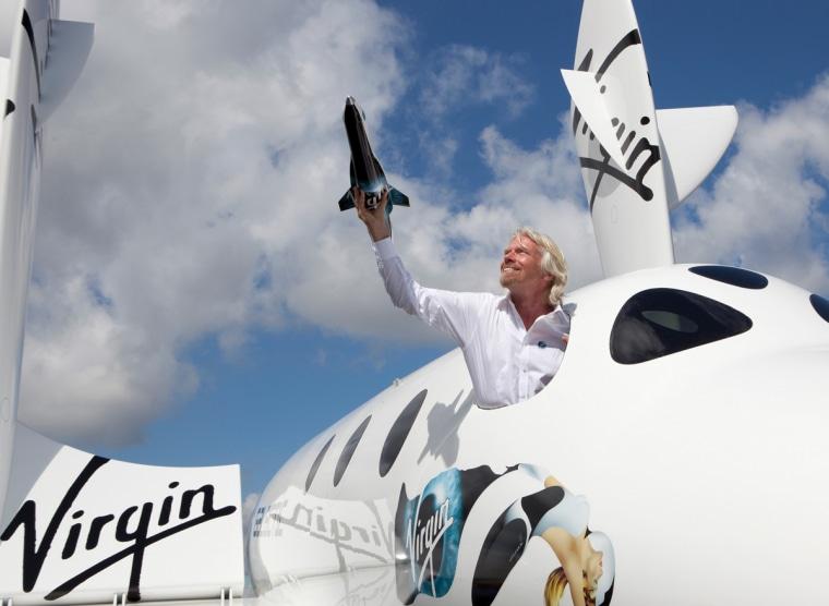 Sir Richard Branson introduces LauncherOne to the world.