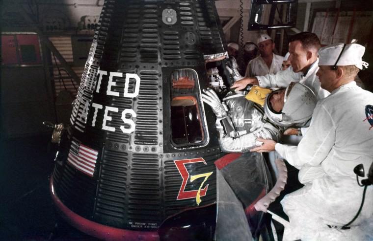50 years ago, Wally Schirra became the fifth American in space, making the third orbital flight of the Mercury program. Schirra piloted his Sigma 7 capsule on a six-orbit mission that lasted more than nine hours on Oct. 3, 1962.