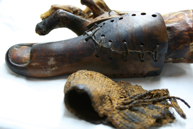 The original Cairo toe, made out of wood and leather, is housed at the Egyptian Museum in Cairo. The toe was found attached to a female mummy.