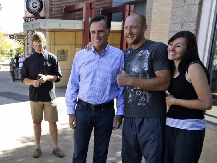 Image: Mitt Romney, Rob Portman