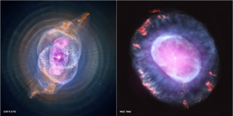 Image: Cat's Eye and NGC 7662