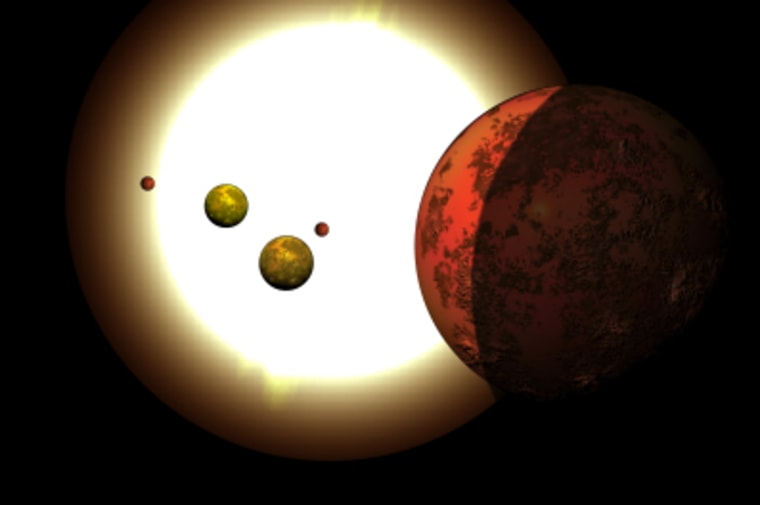 The Kepler observatory has spotted five planets in close formation around KOI-500, 1,100 light-years from Earth.
