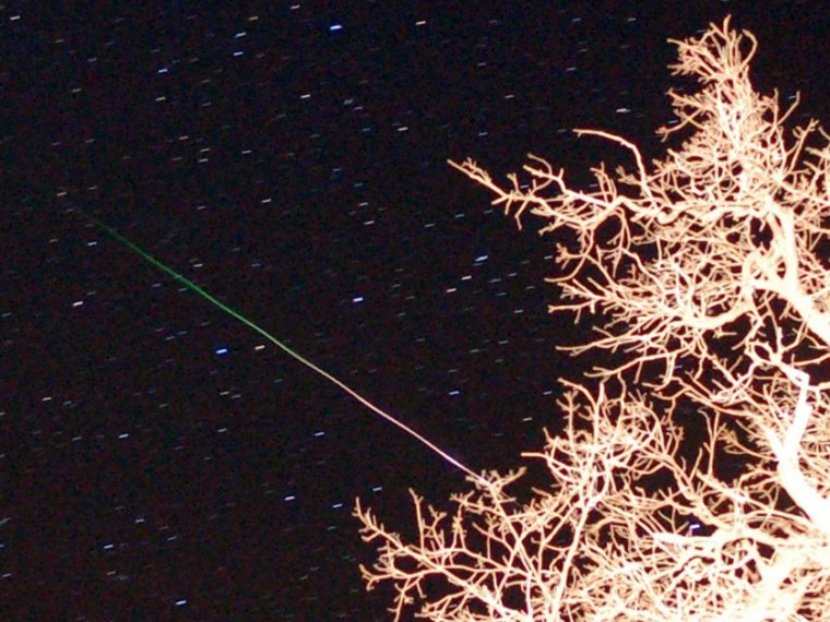 Image: Orionid meteor