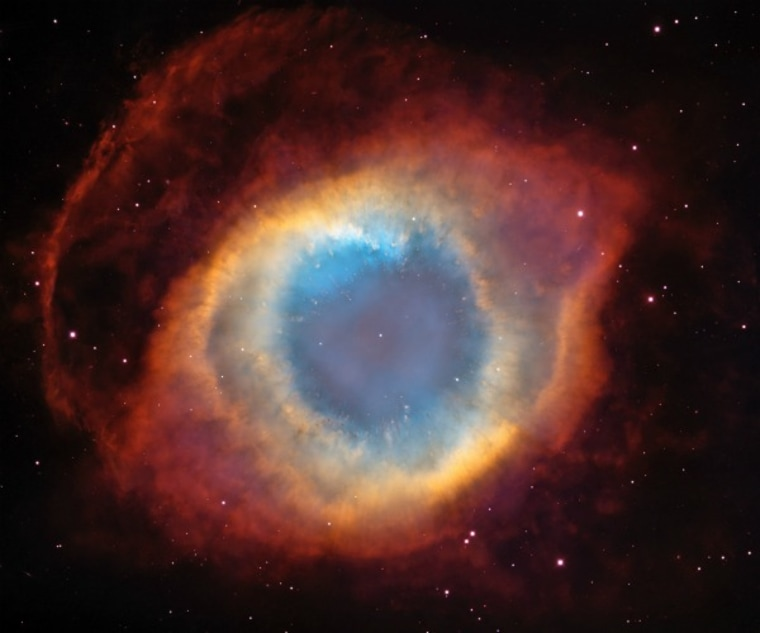 """The Helix Nebula, a planetary nebula in the constellation Aquarius also known as the """"Eye of God."""""""