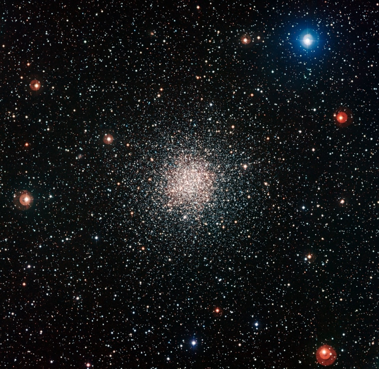 The globular star cluster NGC 6362 was photographed by the European Southern Observatory, revealing tens of thousands of stars, some of which appear deceptively young.