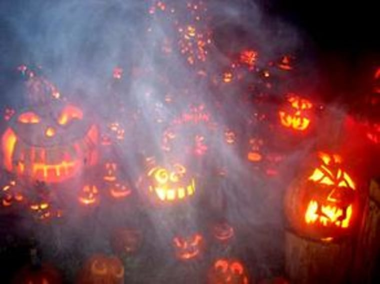 Some 5,000 illuminated pumpkins are displayed each night during the Jack-O-Lantern Spectacular at Roger Williams Park Zoo in Providence, R.I.