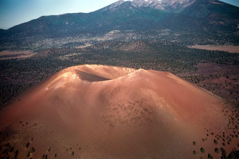 Sunset Crater, a basalt volcano near Flagstaff, Ariz., erupted in 1085 A.D.