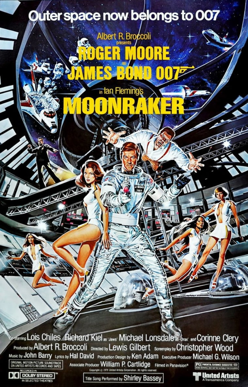"In ""Moonraker"" (1979), James Bond ventured into outer space to battle villian Hugo Drax."