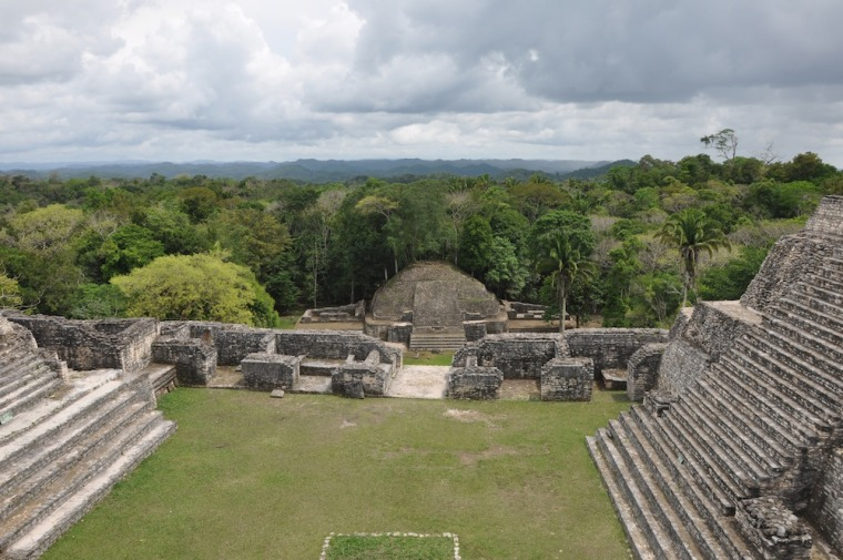 Caracol, a Mayan archaeological site in Belize. Carocal was a crucial population center during the Classic Maya period.