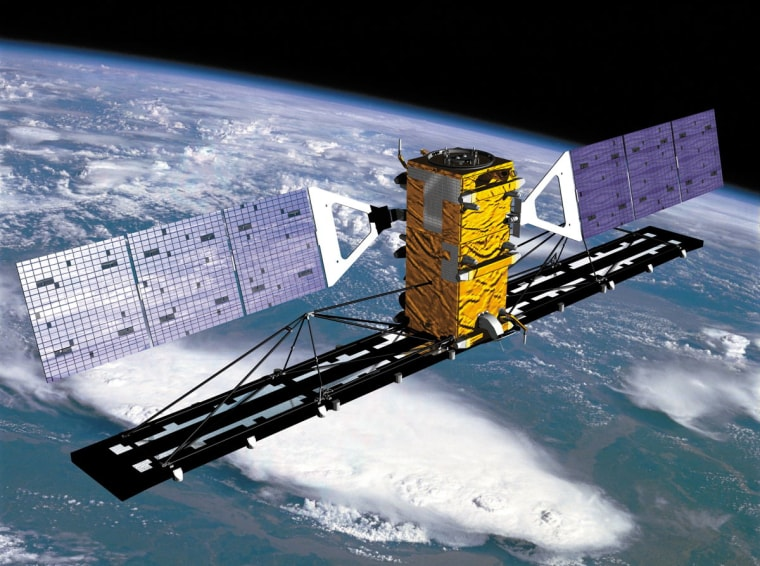 Canada's Radarsat-2, seen here in an artist's illustration, will end its operational lifetime in 2015 before country's replacement — the delayed Radarsat satellite constellation — flies.