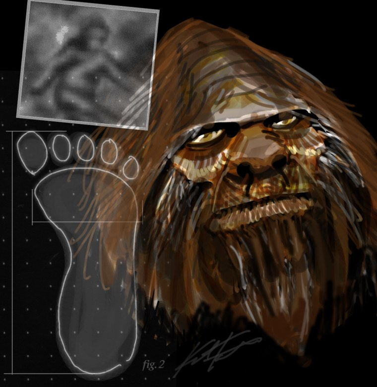 This is one artist's interpretation of Bigfoot. So where is the evidence that it exists? There is none yet.