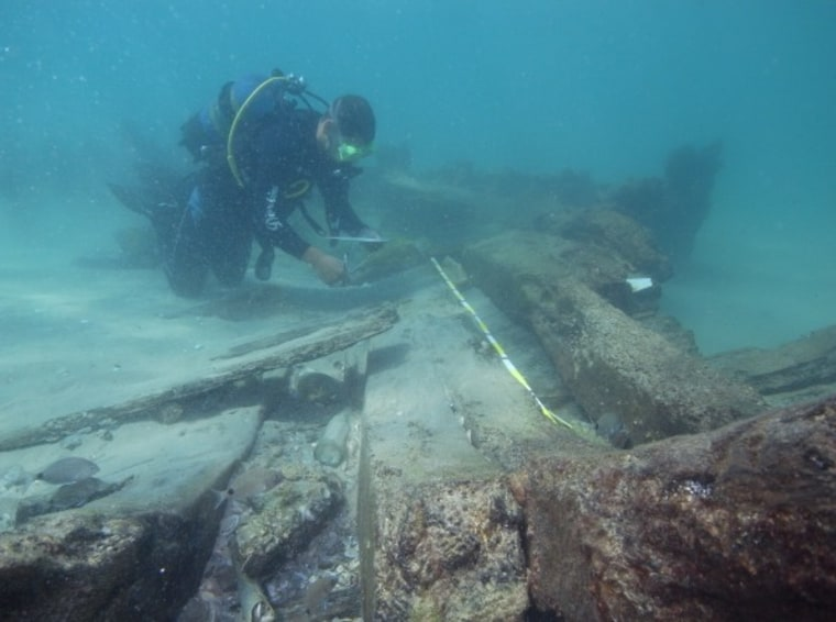 Four shipwrecks off the coast of Israel may reveal the site of an ancient Greek harbor.