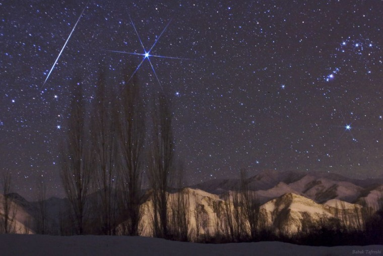 Astrophotographer Babak Tafreshi caught this Geminid meteor in 2009.