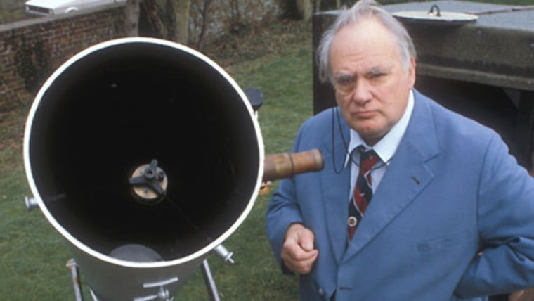 """Sir Patrick Moore, a British astronomer and popularizer of science, passed away on Sunday. He was the host of the BBC's """"The Sky At Night,"""" television's longest-running program."""