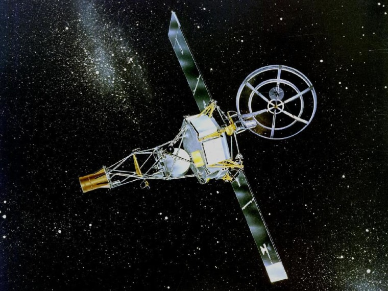 Mariner 2 was the first successful interplanetary spacecraft. It flew past Venus in 1962.