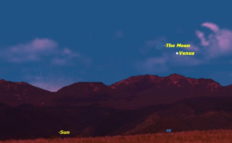 Image: Sky  map for Jan. 10, 2013 sunrise