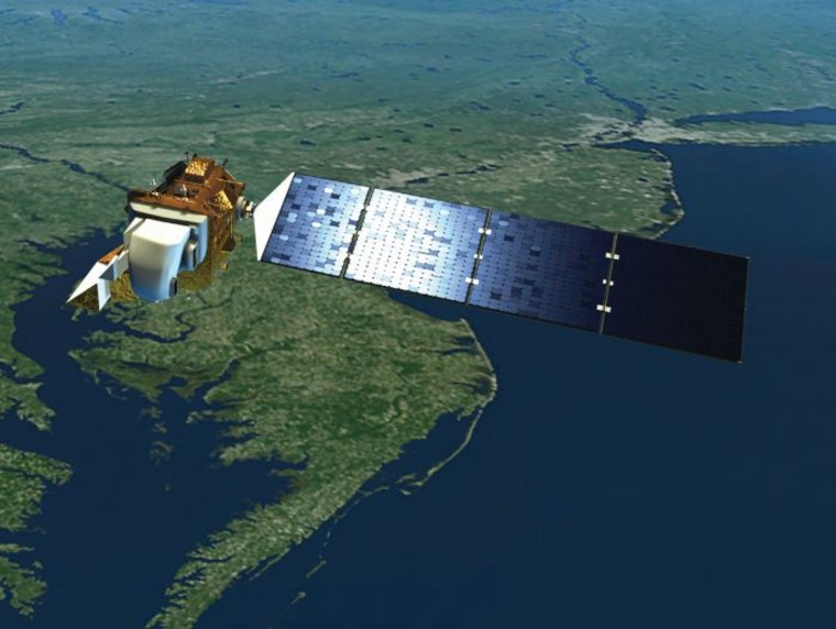 This is what the Landsat Data Continuity Mission (LDCM) will look like in space.