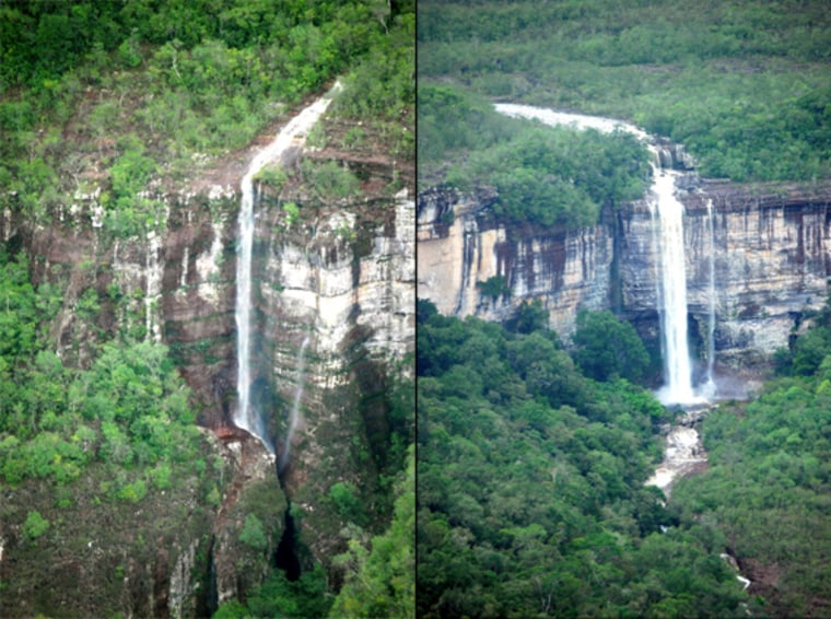 Waterfalls in Colombia's Chiribiquete National Park.