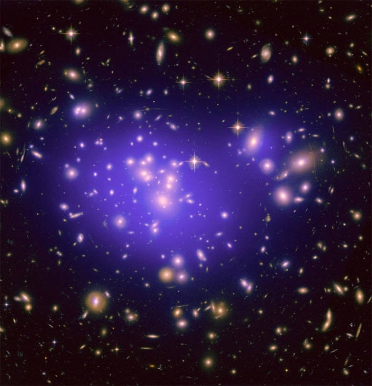 The galaxy cluster Abell 1689 is famous for the way it bends light in a phenomenon called gravitational lensing. A new study of the cluster is revealing secrets about how dark energy shapes the universe.