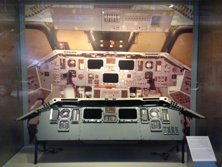 The Intrepid's new Enterprise exhibition displays space shuttle instrumentation that was once part of Enterprise, or another prototype shuttle, according to NASA.