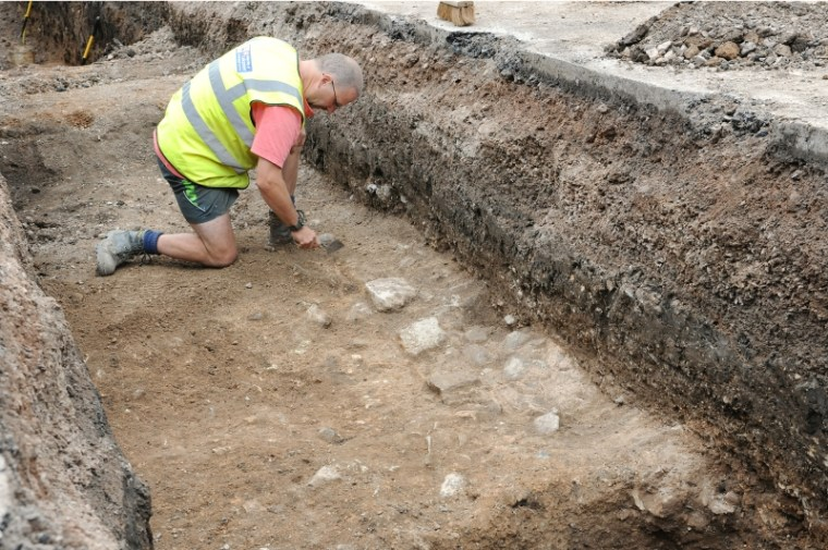 University of Leicester archaeologists dug upthe Leicester City Council parking lot in search of the grave of King Richard III.