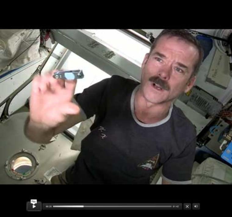 Image: Canadian astronaut Chris Hadfield