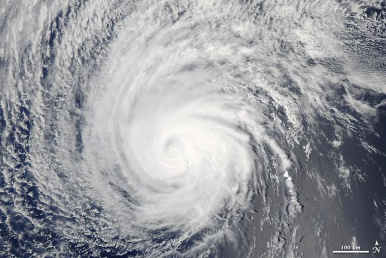 Image: Hurricane Felicia seen by satellite Aug. 8, 2009
