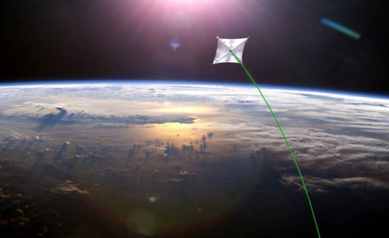 """The Sunjammer project, slated to launch in 2014, will demonstrate """"propellantless propulsion"""" offered by solar sails."""