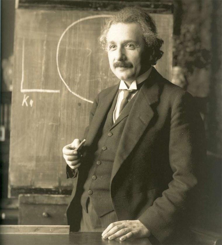 Albert Einstein during a lecture in Vienna in 1921. Is his ilk dead?