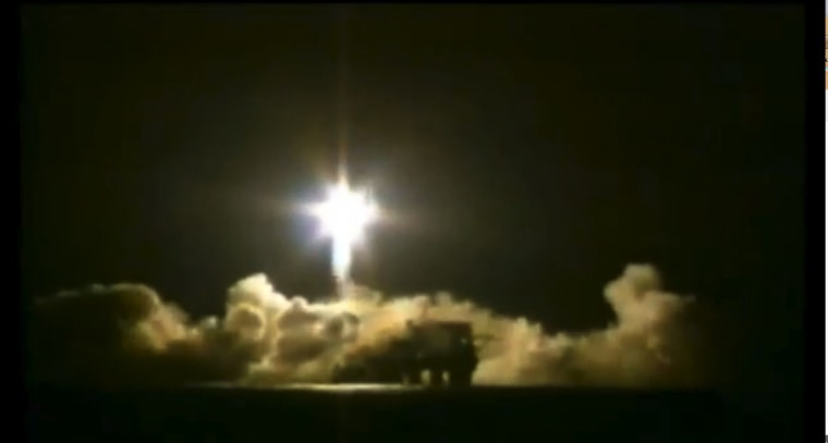 A Sea Launch Zenit 3SL rocket launches from the Odyssey platform in the Pacific Ocean, but fails to carry its payload, the Intelsat 27 satellite, into orbit on Friday. An investigation into the launch failure is under way.