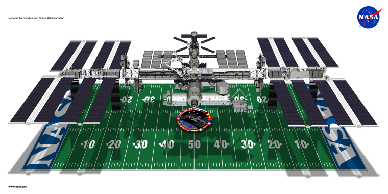 ISS and football field size comparison