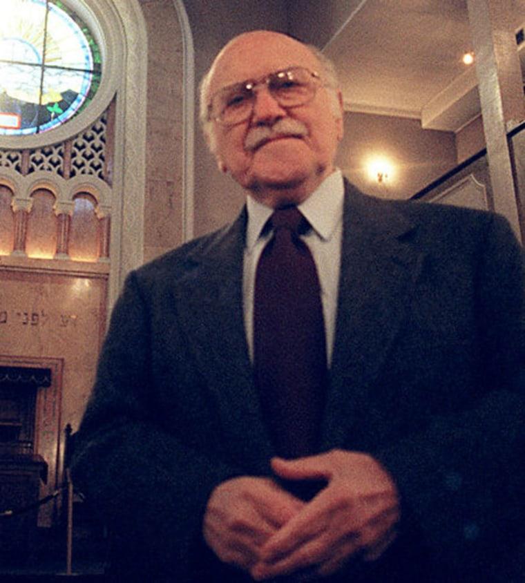 Rabbi Herschel Schacter in 1999.