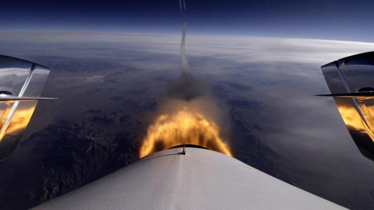 Image: Rocket trail